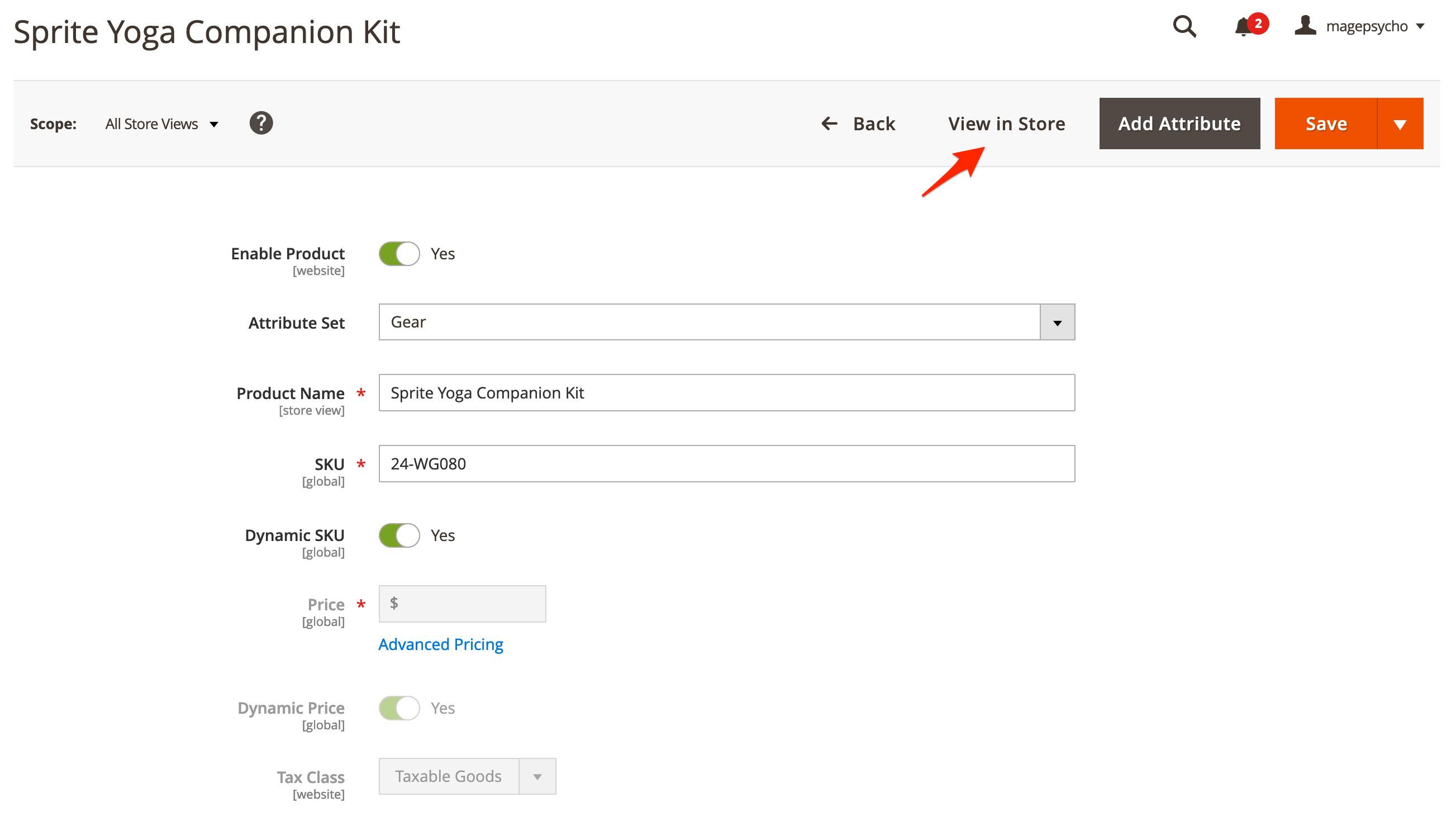 M2 Preview/Visit Catalog - Admin Product Preview Button