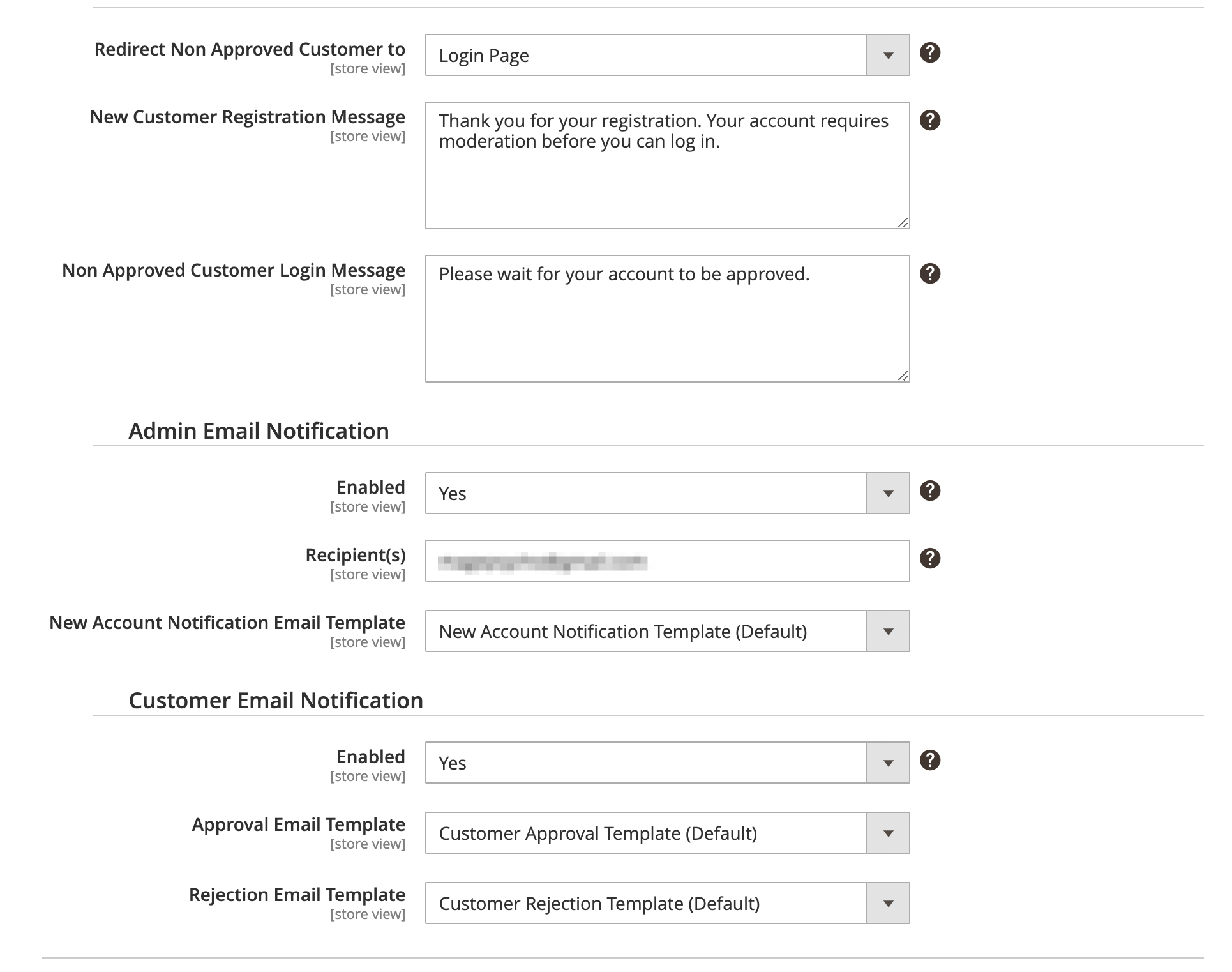Require Customer Approval/Activation - Notification Setting